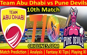 Today Match Prediction-Team Abu Dhabi vs Pune Devils-T10 League-10th Match-Who Will Win