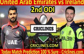 Today Match Prediction-United Arab Emirates vs Ireland-2nd ODI-2021-Who Will Win
