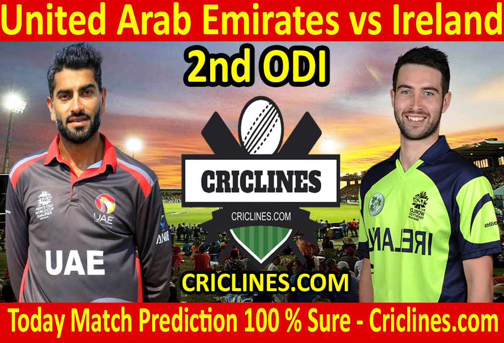 Today Match Prediction-United Arab Emirates vs Ireland-2nd ODI-2021-Who Will Win