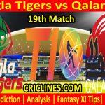 Today Match Prediction-Bangla Tigers vs Qalandars-T10 League-19th Match-Who Will Win