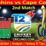 Today Match Prediction-Dolphins vs Cape Cobras-CSA T20 Challenge 2021-2nd Match-Who Will Win
