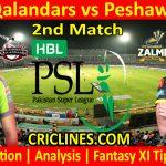 Today Match Prediction-Lahore Qalandars vs Peshawar Zalmi-PSL T20 2021-2nd Match-Who Will Win