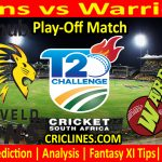 Today Match Prediction-Lions vs Warriors-CSA T20 Challenge 2021-Play-off Match-Who Will Win