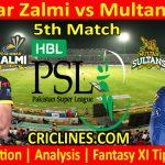 Today Match Prediction-Peshawar Zalmi vs Multan Sultans-PSL T20 2021-5th Match-Who Will Win