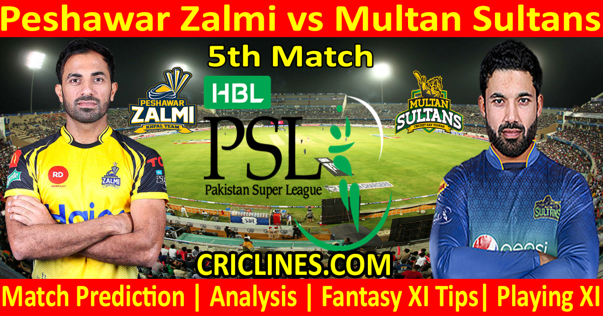 Today Match Prediction-Peshawar Zalmi vs Multan Sultans-PSL T20 2021-5th Match-Who Will Win
