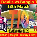 Today Match Prediction-Pune Devils vs Bangla Tigers-T10 League-13th Match-Who Will Win