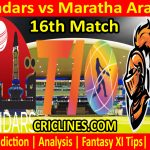 Today Match Prediction-Qalandars vs Maratha Arabians-T10 League-16th Match-Who Will Win