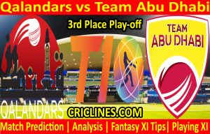 Today Match Prediction-Qalandars vs Team Abu Dhabi-T10 League-3rd Place Play-off-Who Will Win