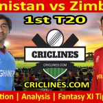 Today Match Prediction-Afghanistan vs Zimbabwe-1st T20 2021-Who Will Win