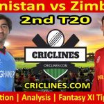 Today Match Prediction-Afghanistan vs Zimbabwe-2nd T20 2021-Who Will Win