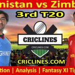 Today Match Prediction-Afghanistan vs Zimbabwe-3rd T20 2021-Who Will Win