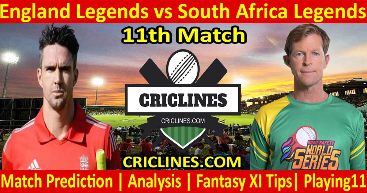 Today Match Prediction-England Legends vs South Africa Legends-11th T20-Who Will Win