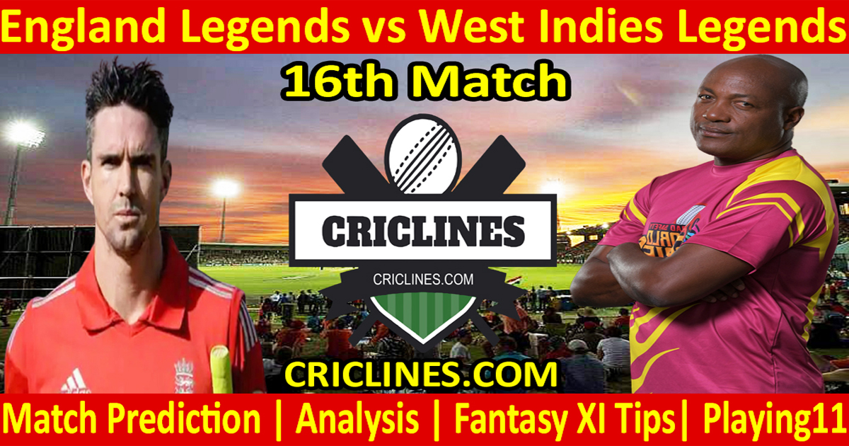 Today Match Prediction-England Legends vs West Indies Legends-16th T20-Who Will Win
