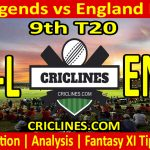 Today Match Prediction-India Legends vs England Legends-9th T20-Who Will Win