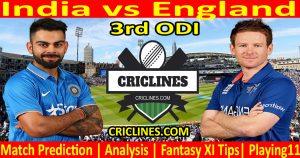Today Match Prediction-India vs England-3rd ODI-2021-Who Will Win