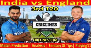 Today Match Prediction-India vs England-3rd T20-2021-Who Will Win