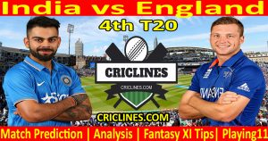 Today Match Prediction-India vs England-4th T20-2021-Who Will Win