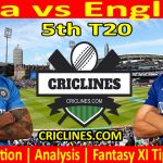 Today Match Prediction-India vs England-5th T20-2021-Who Will Win