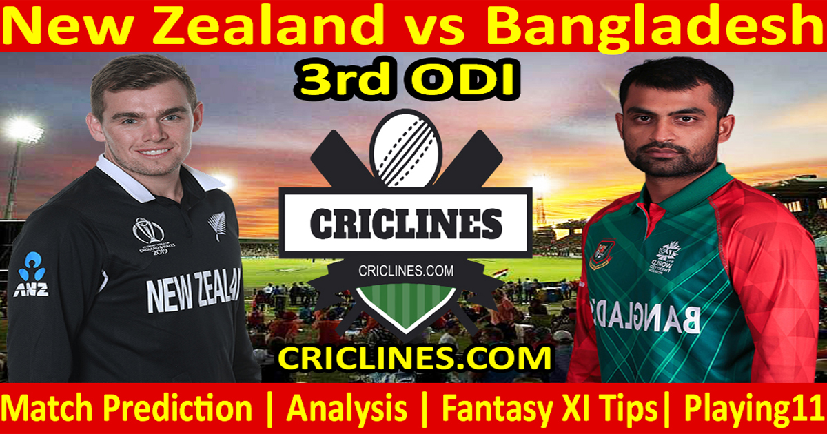 Today Match Prediction-New Zealand vs Bangladesh-3rd ODI-Who Will Win