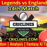 Today Match Prediction-Sri Lanka Legends vs England Legends-14th T20-Who Will Win