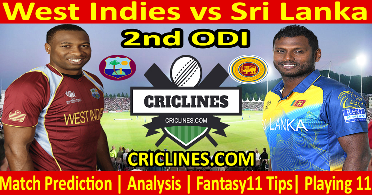 Today Match Prediction-West Indies vs Sri Lanka-2nd ODI-2021-Who Will Win