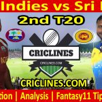 Today Match Prediction-West Indies vs Sri Lanka-2nd T20-2021-Who Will Win