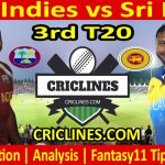 Today Match Prediction-West Indies vs Sri Lanka-3rd T20-2021-Who Will Win