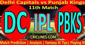 Today Match Prediction-Delhi Capitals vs Punjab Kings-IPL T20 2021-11th Match-Who Will Win