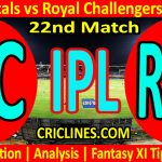Today Match Prediction-Delhi Capitals vs Royal Challengers Bangalore-IPL T20 2021-22nd Match-Who Will Win