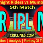 Today Match Prediction-Kolkata Knight Riders vs Mumbai Indians-IPL T20 2021-5th Match-Who Will Win