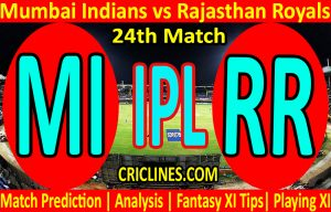 Today Match Prediction-Mumbai Indians vs Rajasthan Royals-IPL T20 2021-24th Match-Who Will Win
