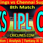 Today Match Prediction-Punjab Kings vs Chennai Super Kings-IPL T20 2021-8th Match-Who Will Win