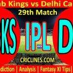 Today Match Prediction-Punjab Kings vs Delhi Capitals-IPL T20 2021-29th Match-Who Will Win