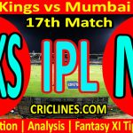 Today Match Prediction-Punjab Kings vs Mumbai Indians-IPL T20 2021-17th Match-Who Will Win
