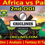 Today Match Prediction-South Africa vs Pakistan-2nd ODI-Who Will Win