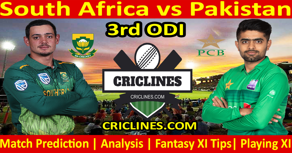 Today Match Prediction-South Africa vs Pakistan-3rd ODI-Who Will Win