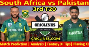 Today Match Prediction-South Africa vs Pakistan-3rd T20-Who Will Win