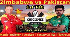 Today Match Prediction-Zimbabwe vs Pakistan-1st T20-Who Will Win
