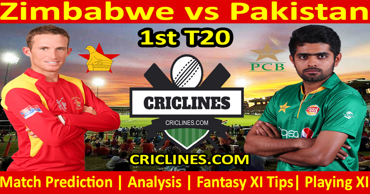 Today Match Prediction-Zimbabwe vs Pakistan-1st T20-Who Will Win