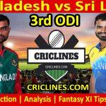 Today Match Prediction-Bangladesh vs Sri Lanka-3rd ODI 2021-Who Will Win