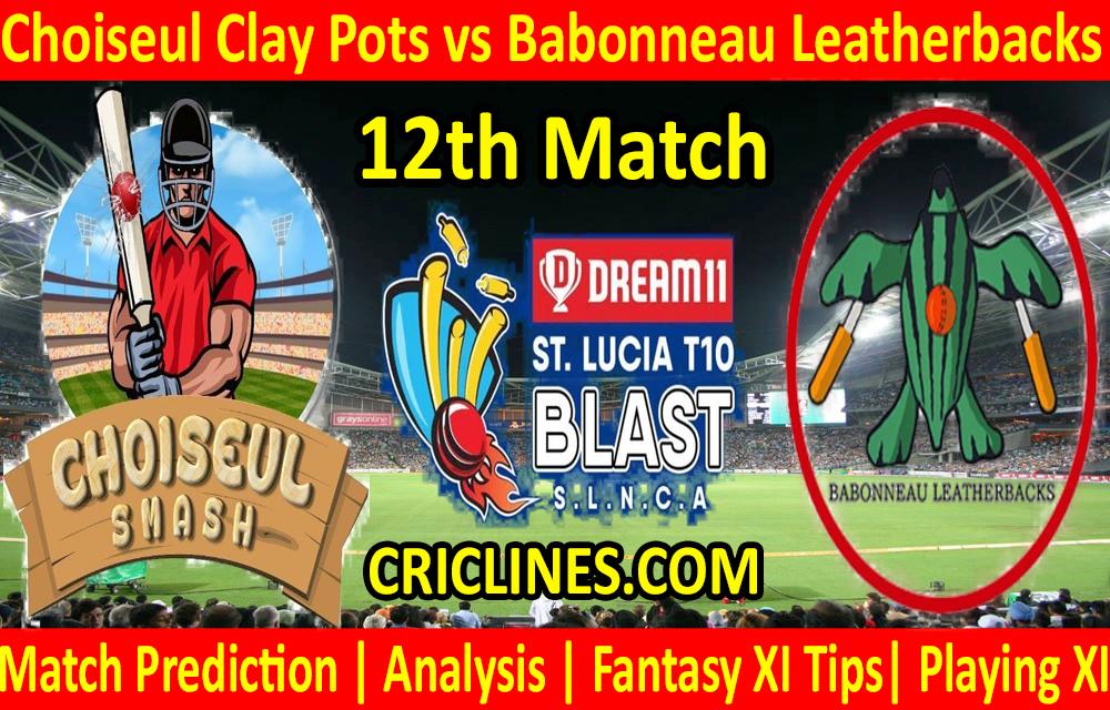 Today Match Prediction-Choiseul Clay Pots vs Babonneau Leatherbacks-St