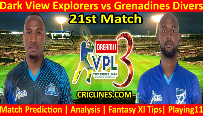Today Match Prediction-Dark View Explorers vs Grenadines Divers-VPL T10 2021-21st Match-Who Will Win
