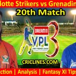 Today Match Prediction-Fort Charlotte Strikers vs Grenadines Divers-VPL T10 2021-20th Match-Who Will Win