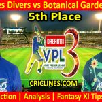 Today Match Prediction-Grenadines Divers vs Botanical Garden Rangers-VPL T10 2021-5th Place-Who Will Win