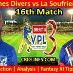 Today Match Prediction-Grenadines Divers vs La Soufriere Hikers-VPL T10 2021-16th Match-Who Will Win
