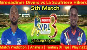 Today Match Prediction-Grenadines Divers vs La Soufriere Hikers-VPL T10 2021-5th Match-Who Will Win
