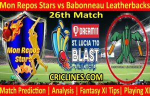 Today Match Prediction-Mon Repos Stars vs Babonneau Leatherbacks-St