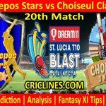 Today Match Prediction-Mon Repos Stars vs Choiseul Clay Pots-St