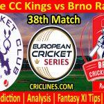 Today Match Prediction-Prague CC Kings vs Brno Raiders-ECS T10 Prague League-38th Match-Who Will Win