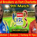 Today Match Prediction-Salt Pond Breakers vs Fort Charlotte Strikers-VPL T10 2021-9th Match-Who Will Win